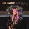 ALLMAN GREGG /USA/ - Gregg allman live-2cd : Back to macon,ga